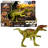 Jurassic World Roar Attack Baryonyx Limbo Camp Cretaceous Dinosaur Figure with Movable Joints, Realistic Sculpting, Strike Feature & Sounds, Carnivore, Kids Gift 4 Years & Up