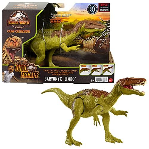 Jurassic World Ruge y Ataca Baryonyx Dinosaurio figura articulada de juguete con sonidos Mattel GWD12