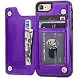 iPhone 8 Wallet Case with Card Holder,OT ONETOP iPhone 7 Case Wallet Premium PU...