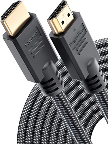 PowerBear 4K HDMI Cable 40 ft | High Speed, Braided Nylon & Gold Connectors, 4K @ 60Hz, Ultra HD, 2K, 1080P & ARC Compatible | for Laptop, Monitor, PS5, PS4, Xbox One, Fire TV, Apple TV & More