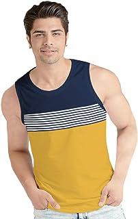 BLIVE Printed Men's Sleeveless Cotton Vest