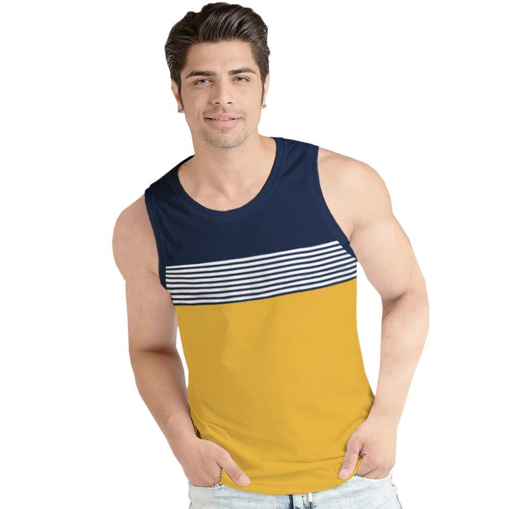 BLIVE Printed Men's Sleeveless Cotton Vest Vests