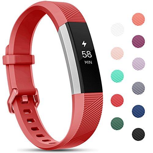 Onedream Compatibile per Fitbit Alta HR Cinturini/Alta Cinturino/Ace Bracciale Braccialetto Sport Rosso (nessun Tracker),L