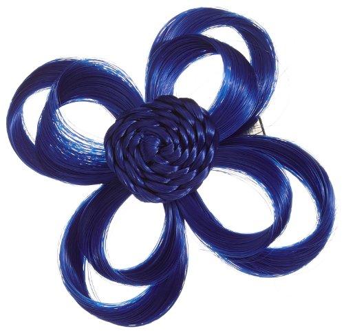 Love Hair Extensions Blume auf Krokodilklemme Farbe Elektrische Blau, 1er Pack (1 x 1 Stück)