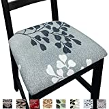 NORTHERN BROTHERS Seat Covers for Dining Room Chairs Printed Dining Room Chair Seat Covers Set of 4,Apricot Leaves