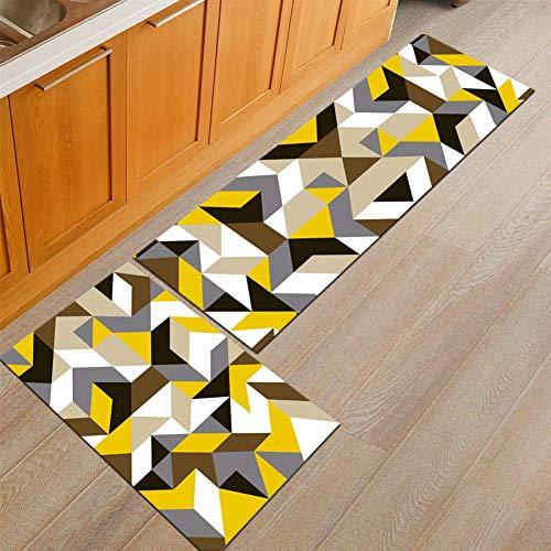 Ommda Tappeti Cucina Lavabile Antiscivolo Moderno Geometria Stampa Tappeto da Cucina Gommato 6mm 40x120cm