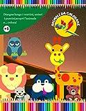 ANIMALI DA COLORARE: disegna lungo i trattini, unisci i puntini, scopri l'animale e… colora!: Giochi per bambini in età prescolare 3 - 6 anni. Album di animali da ritagliare e colorare