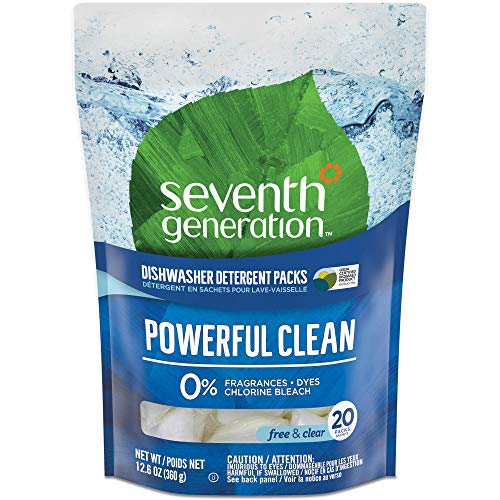 Seventh Generation Natural Dishwasher Detergent Packs, Free and Clear,...