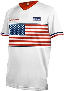 US Team Men's MTB Jersey Downhill Tops Moto Rage Cycling Top Cycle Short/Long Sleeve Mountain Bike Shirt