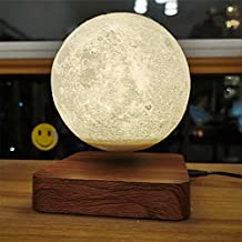 Riiai Moon Lamp 3D Printing Magnetic Levitating Moon Light Lamps for Home縲^ffice Decor, Creative Gift,Kid Gift Has 3 Color...