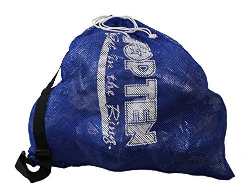 TopTen TOP Ten® GET IN The Ring Schulterbeutel TOP Ten Mesh Bag XL 2016 Sporttasche Kickboxen Kick-Boxen, Thaiboxen Muay Thai, Tasche, Trainingstasche, Kickboxtasche Bag, BLAU Budoland