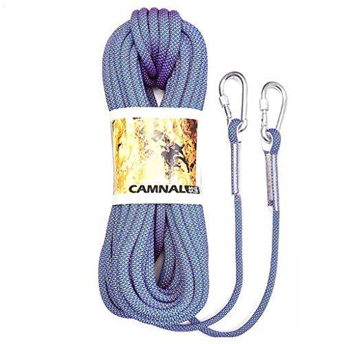 LXYFMS - Cuerda de elevación para Escalada, para acampadas, Escalada, Escalada o Escalada, Resistente al Desgaste, Color Opcional, Cuerda de montañismo (Color: D, tamaño: 12 mm 30 m)