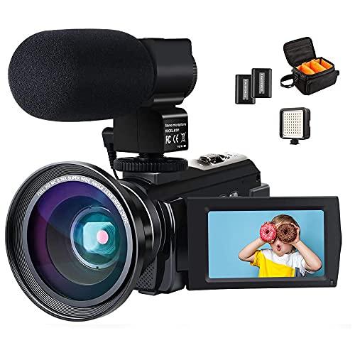 4K Camcorder, ACTITOP Video Camera 48mp Full HD 1080p WIFI IR Night Vision...