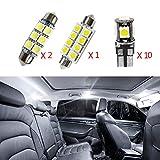 Para Mondeo MK3 Super brillante Fuente de luz LED interior Lámpara de coche Bombillas de repuesto Blanco Paquete de 13