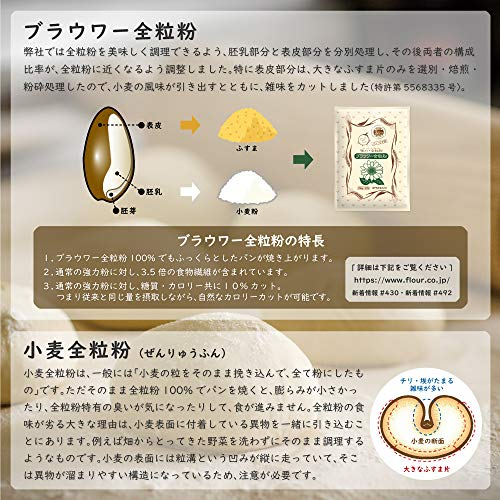 木下製粉ブラウワー全粒粉(250g×12袋)パン用小麦粉強力粉小麦全粒粉