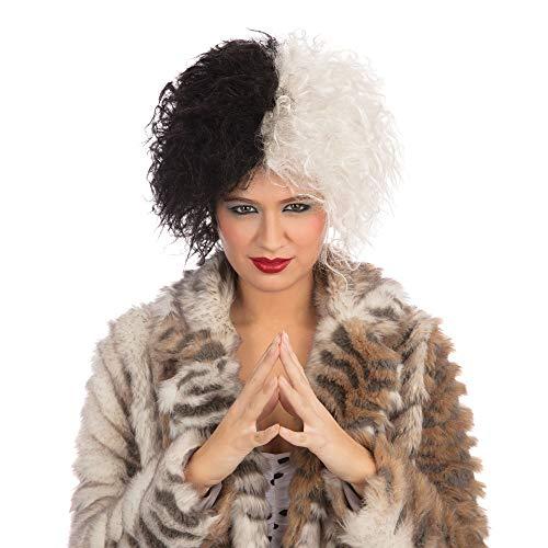 EVIL Dalmation Madame Cruella Wig (Perruque)