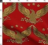 Glimmericks, Adler, Gold, Amerikanisch, Vögel Stoffe -