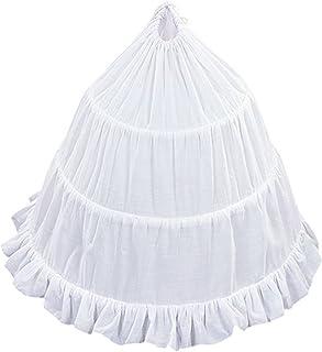 AMJ Dresses Inc Adjustable Girls Cotton 3-Hoop Flower Girl Crinoline Petticoat Skirt