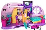Polly Pocket Coffret La Chambre Métamorphose, 1 grande + 1 mini-figurine et accessoires pour jouer les scènes de transformation, jouet enfant, FRY98