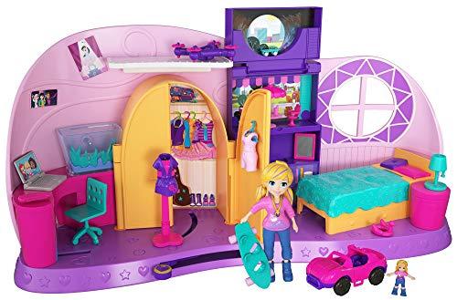 Polly Pocket Coffret La Chambre Métamorphose, 1 grande + 1 mini-figurine et accessoires pour jouer les scènes de transformation, jouet enfant, édition 2018, FRY98