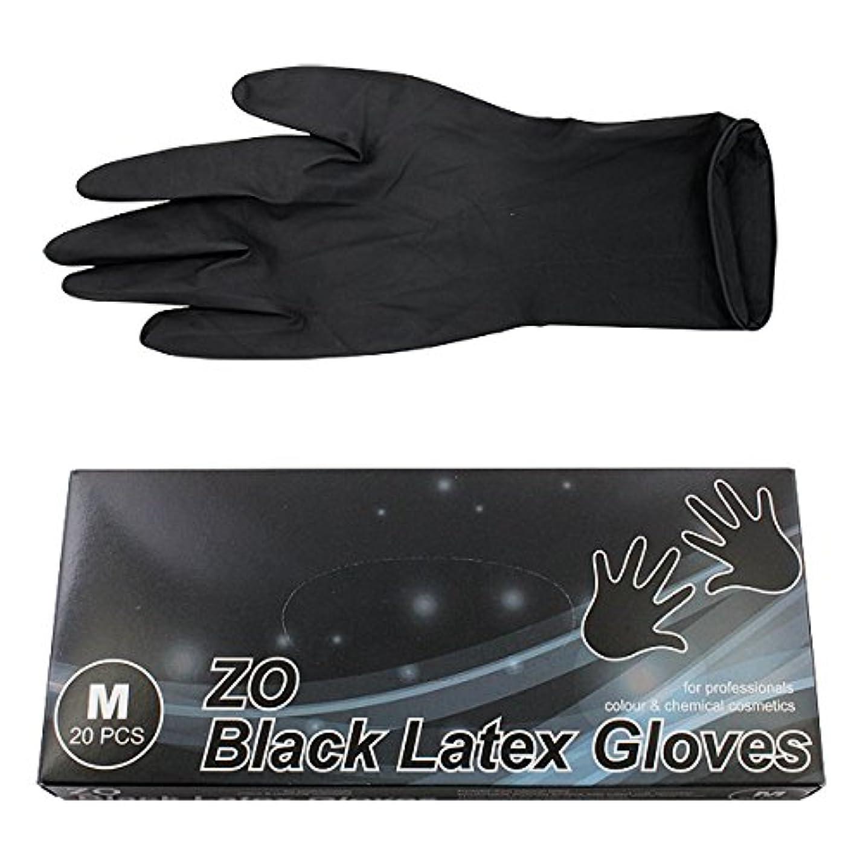 ルーフワックス事業内容ZO ZO ブラックラテックスグローブ M 20枚入り