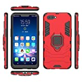 Case for Oppo A3s, HENGHUA Ring Holder Kickstand Soft TPU Hard PC Magnetism Car Bracket 360 Degree Rotation Anti-Slip Smartphone Shockproof Case for Oppo A3s / A5 6.2' (Red)