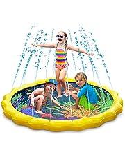 Keten Splash Play Mat, Sprinkle & Splash Water Pad 67 '' Summer Outdoor Games Garden Spray Toys for Learning, Opblaasbaar Waterspeelgoed voor Zuigelingen Peuters en Kinderen