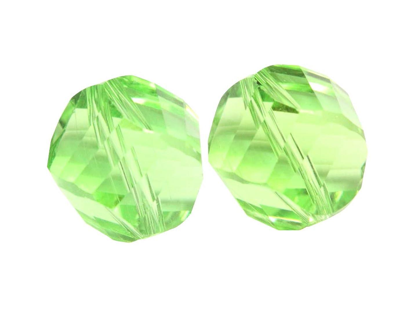 50 6mm Adabele Austrian Helix Crystal Beads Peridot Green Compatible with Swarovski Preciosa Crystals 5020 SSH-616