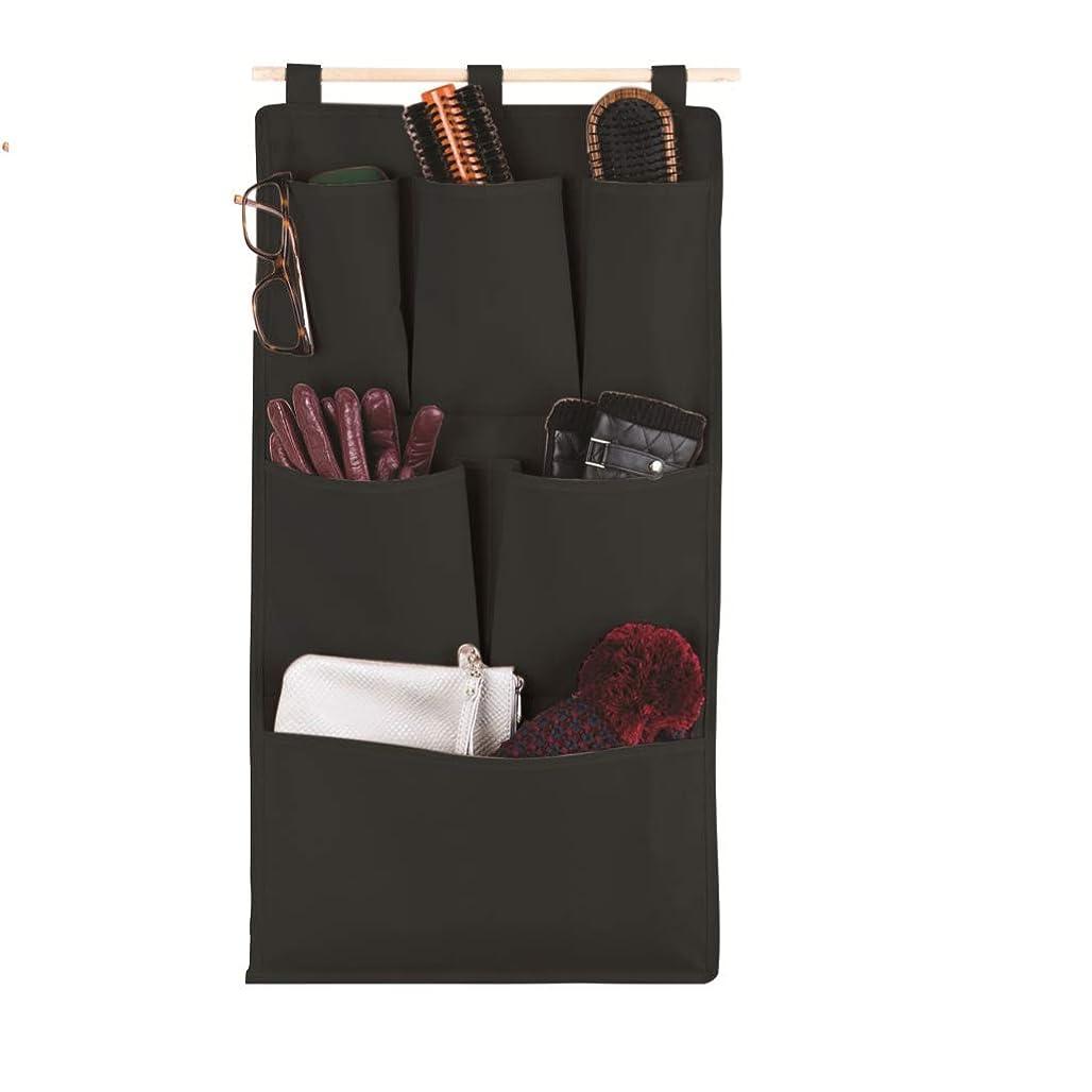 アンティーク決定戦術3層+ 6ポケット付きドア/壁掛け収納オーガナイザー上のマジックセーバー - 安い、ディスカウント価格防水不織布35x60 cm |ビスタプリントブラック