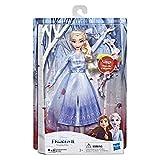Disney Frozen - Muñeca de Elsa Cantante con música con Vestido Azul Inspirado en Disney Frozen 2, Ju...