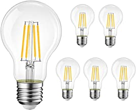 Yaeer 4W LED lamp E27 Retrofit Classic LED Bulb A60, Clear, Not Dimmable, Replace 40W Incandescent Lamp, 400lm, Warm White...