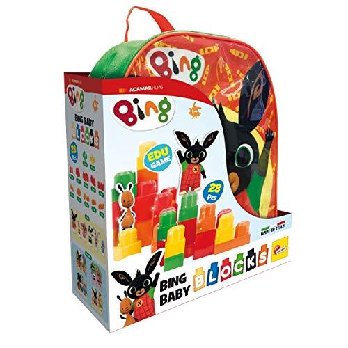 Lisciani Giochi- Bing Zainetto Costruzioni Baby Gioco per Bambini, Colore Verde, 76864