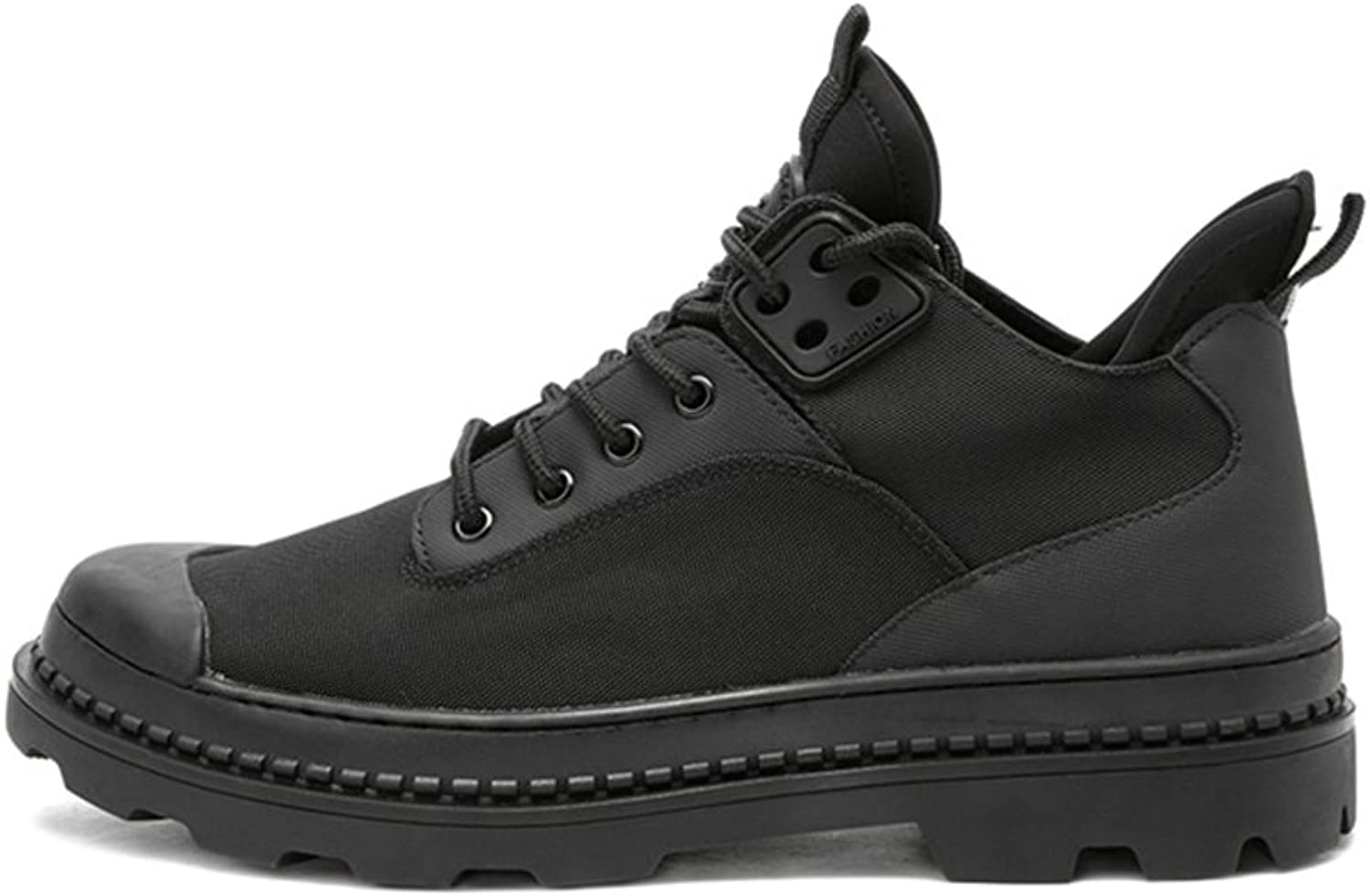 WYYY Men's shoes shoeslace Round Head Casual shoes PU Black Spring And Autumn ( Size   42 )