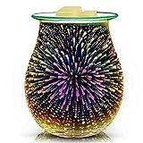 Tonglura Riutilmente Aroma Elettrico Cera Fusione del bruciatore di incenso 3D Tocco d'artificio di Notte della Lampada Tart Aromaterapia diffusore Wax Warmer Pieghevole (Color : Multi-Colored)