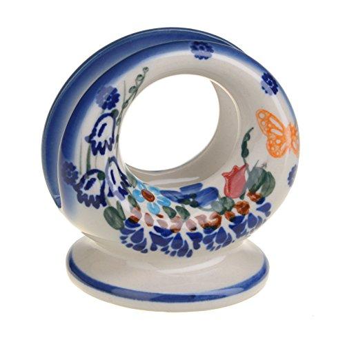 BCV Boleslawiec Pottery de cerámica pintado a mano de la servilleta/servilleta titular 507-U-099