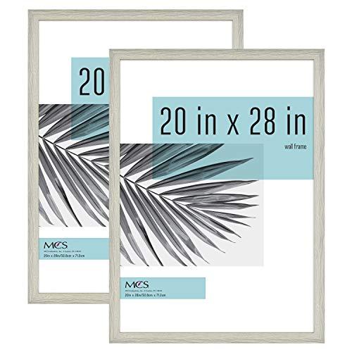 MCS Industries 63810 20x28 Inch 2-Pack, Gray Woodgrain Studio Gallery Frame, 2 Count