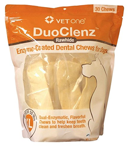 Duoclenz Rawhide Chews for Extra Large Dogs [50+ Lbs] (30 Count)