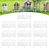 CHAOMIC 10PCS Decorative Garden Fence White Black PVC Plastic Landscape Folding Fencing...