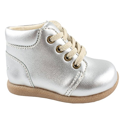 EN FANT Mädchen Beginner Shoe Lace Bootschuhe, Silber (Silver 01), 22