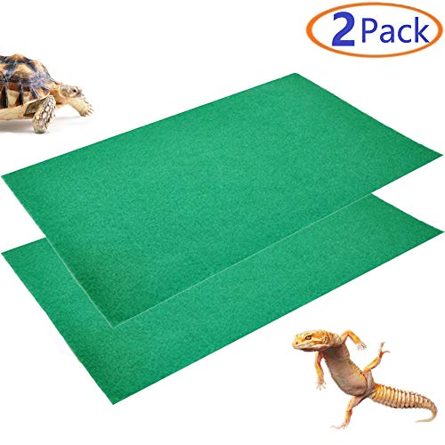 """Tfwadmx 39"""" X 20"""" Reptile Carpet Mat Substrate Liner Bedding Reptile Supplies for Terrarium Lizards Snakes Bearded Dragon Gecko Chamelon Turtles Iguana (2 Pack)"""