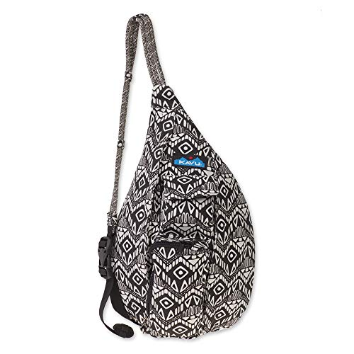 "High Quality Material - Made from 12 oz cotton canvas. Cross Body Strap Length: 20"" - 40"" Dimensions: 16"" x 9"" x 4"". What Makes It Mini? The Mini Rope Bag is roughly 1/3 the size of KAVU's traditional Rope Sling, but the front cellphone pockets are t..."