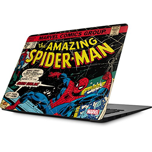 Skinit Decal Laptop Skin Compatible with MacBook Air 13.3 (2010-2017) - Officially Licensed Marvel/Disney Marvel Comics Spiderman Design