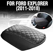 KMMOTORS Automotive Customized Console Armrest Cushion Only for Ford Explorer SUVs 2011-2018 (Artificial Leather)