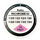 Carrete de alambre de resistencia Nichrome 80 Ni80 (10m), 22–32G AWG