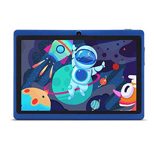 Haehne Tablet PC 7 Zoll Android Tablet mit HD Displays Google Android 90 System Zwei Kameras Quad Core 1GB RAM 16GB ROM GMS Zertifiziertes Blau