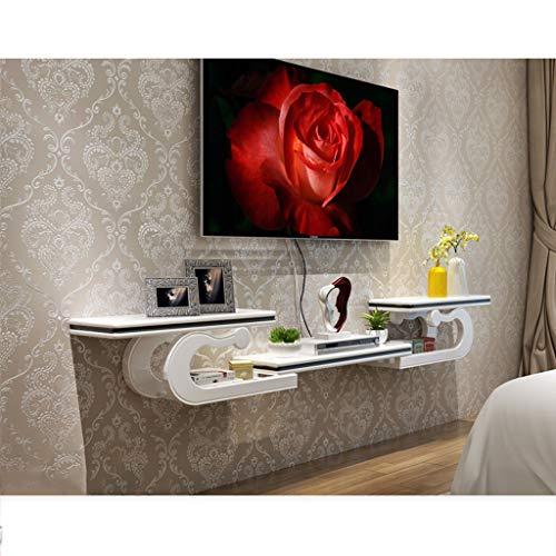 LXYFMS - Mueble de Pared para TV o Reproductor de BLU-Ray, Caja de televisión por satélite, Estante Flotante, Color Blanco