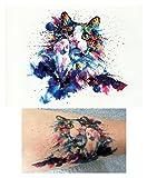 Temporäre Tattoos Temporary Tattoo Fake Tattoo -AQUARELL KATZE-