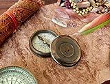 India .Nautical .Handwerk Messing Vintage Gedicht Kompass Robert Frost Papier Gewicht Kompass...