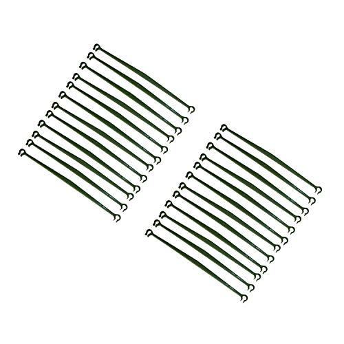 Timagebreze 24 Pcs Stake Arms for Tomato Cage,11.8 Inches Expandable Trellis Connectors for Any 11mm Diameter Plant Stakes,2 Buckle