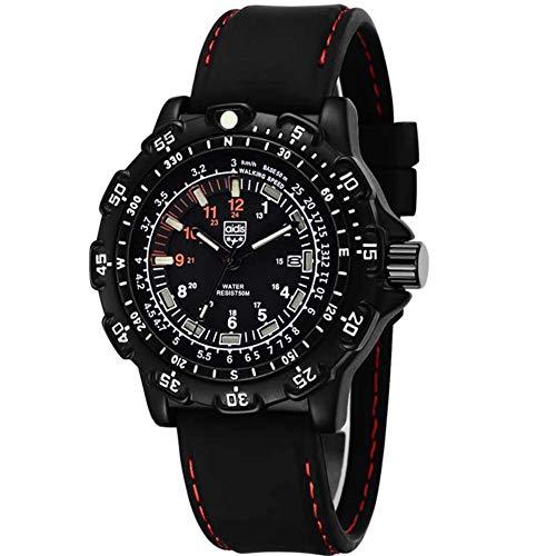 NLRHH wasserdichte leuchtende Uhr der Männer Taktische Outdoor Multifunktions-Herren-Quarzuhr Peng (Color : B)